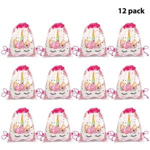 Other - Unicorn Drawstring Party Favor Bags 12 Pack